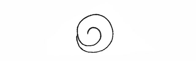 卡通蜗牛简笔画 卡通蜗牛的画法步骤图解教程
