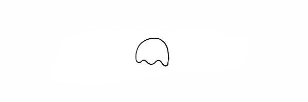 水母如何画 漂亮的卡通水母简笔画画法步骤图教程