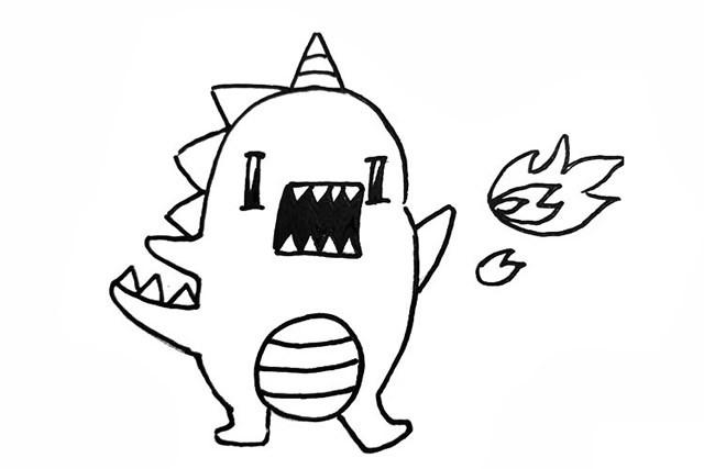 9款可爱卡通恐龙简笔画图片大全