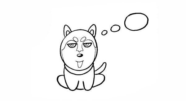 哈士奇如何画 小狗哈士奇简笔画画法步骤图教程