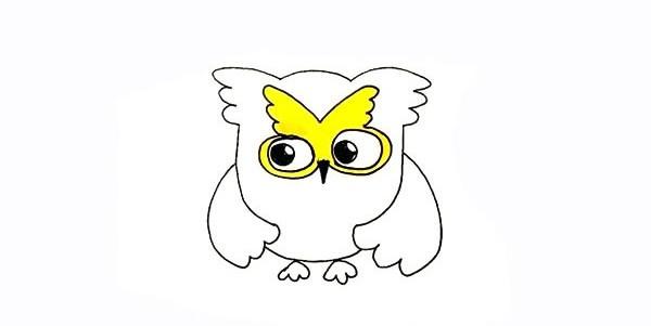 可爱的猫头鹰如何画 猫头鹰简笔画画法步骤图教程