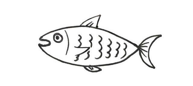 零基础学画18种不同卡通画鱼,简单实用