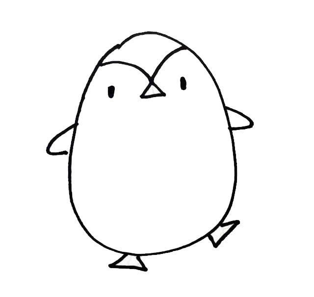 可爱又简单的小企鹅简笔画绘制步骤大全