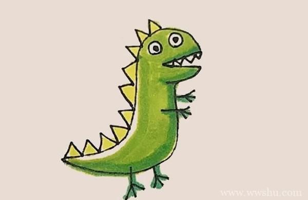 乔治恐龙简笔画步骤教程