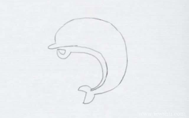教大家学画海豚简笔画,内附详细步骤图解教程
