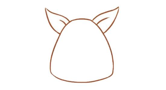 卡通袋鼠简笔画的画法步骤图解教程及图片大全