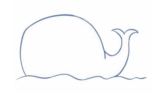 卡通鲸鱼简笔画的画法步骤图解及图片大全
