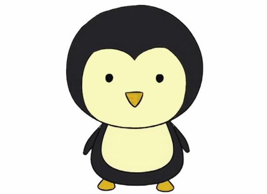 企鹅简笔画的画法步骤教程及图片大全