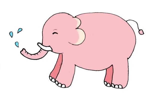 用数字3画大象简笔画步骤图解教程