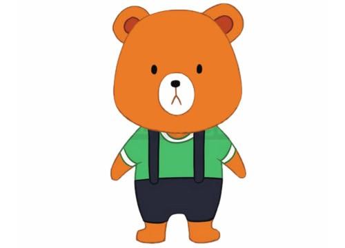 卡通小熊简笔画的画法步骤教程及图片大全
