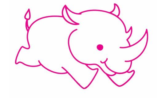 犀牛简笔画的画法步骤教程及图片大全