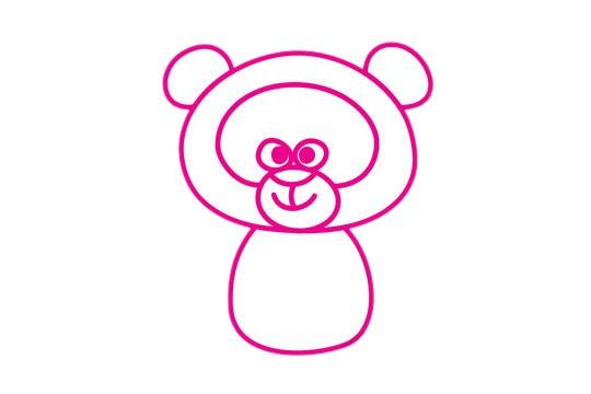 浣熊简笔画的画法步骤教程及图片大全