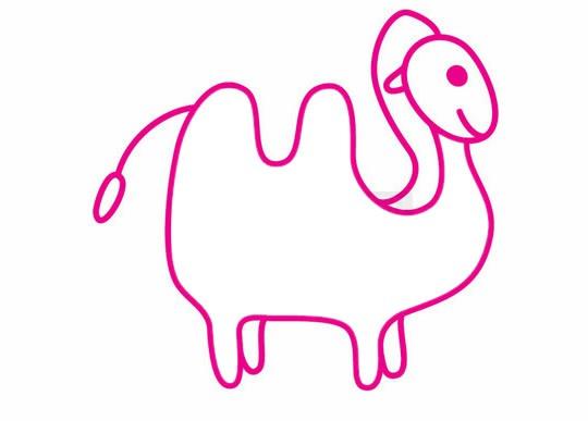 卡通骆驼简笔画的画法步骤教程及图片大全