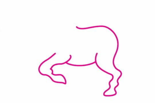 马简笔画的画法步骤图解教程及图片大全