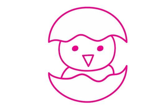 小鸡简笔画的画法步骤教程及图片大全