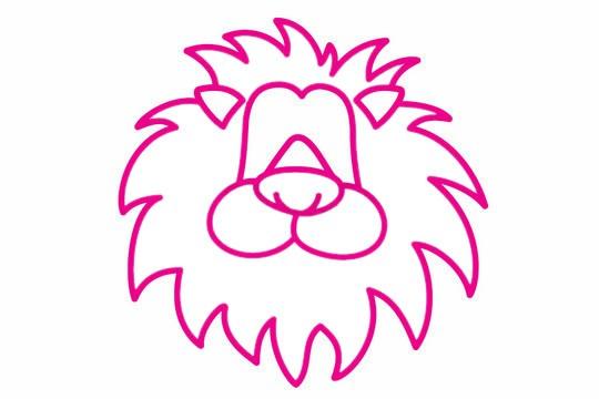 狮子简笔画的画法步骤教程及图片大全