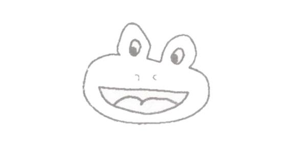 青蛙简笔画彩色画法步骤图解教程