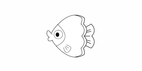 蝴蝶鱼简笔画简单画法步骤图解教程及图片大全