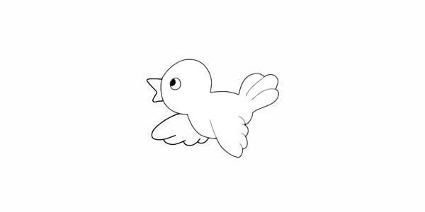 黄鹂鸟简笔画简单画法步骤图解教程及图片大全