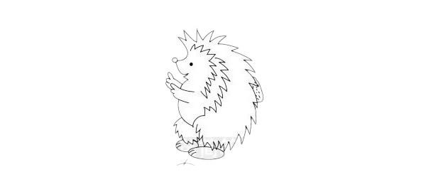 超简单的刺猬简笔画步骤图解教程及图片大全