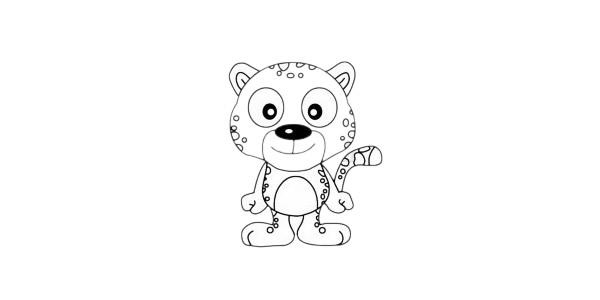 超简单的豹子简笔画步骤图解教程及图片大全