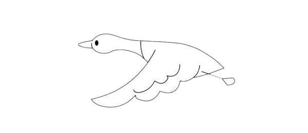 超简单的大雁简笔画步骤图解教程及图片大全