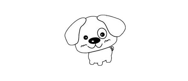 超简单的狗狗简笔画步骤图解教程及图片大全