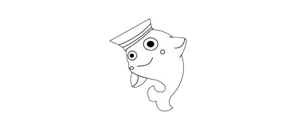 海豚简笔画简单画法步骤图解及图片大全