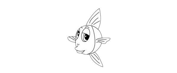 金鱼简笔画简单画法步骤教程及图片大全