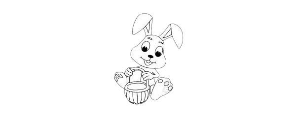 卡通兔子简笔画简单画法步骤教程及图片大全