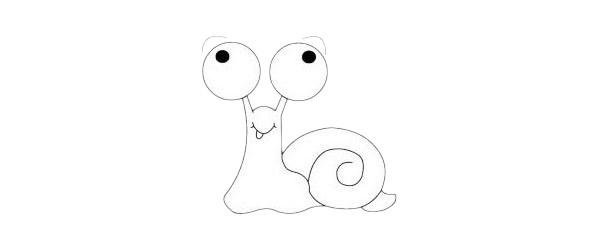 卡通蜗牛简笔画简单画法步骤教程及图片大全