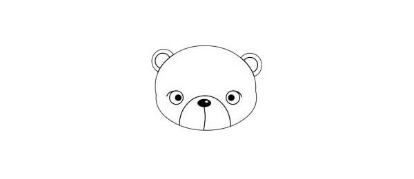 卡通熊简笔画简单画法步骤教程及图片大全