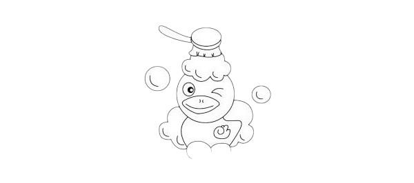 卡通小鸭子简笔画画法步骤教程及图片大全