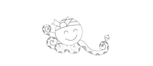 卡通章鱼简笔画简单画法步骤教程及图片大全