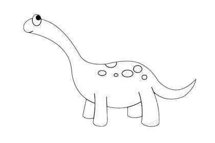 卡通雷龙简笔画简单画法步骤教程及图片大全