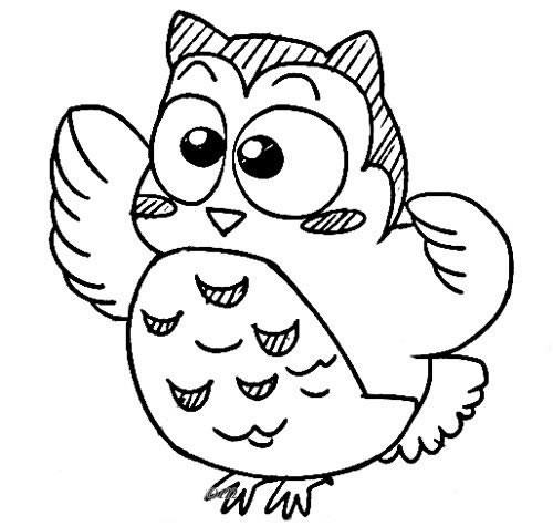 儿童猫头鹰简笔画图片大全