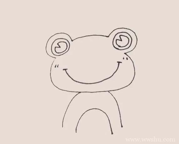 青蛙王子简笔画彩色画法步骤教程