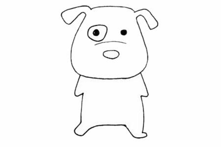 [斑点狗简笔画]可爱的斑点狗简笔画画法步骤教程及图片大全