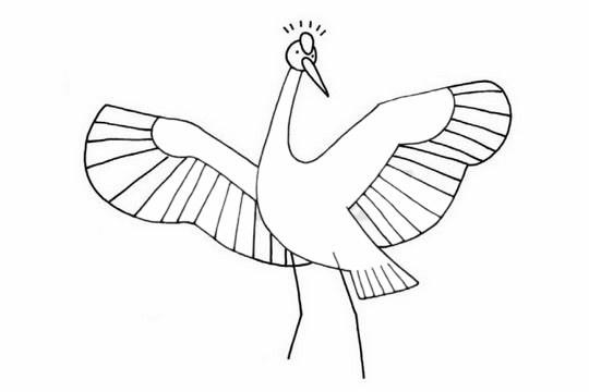 [白鹳如何画]白鹤简笔画简单画法步骤教程及图片大全