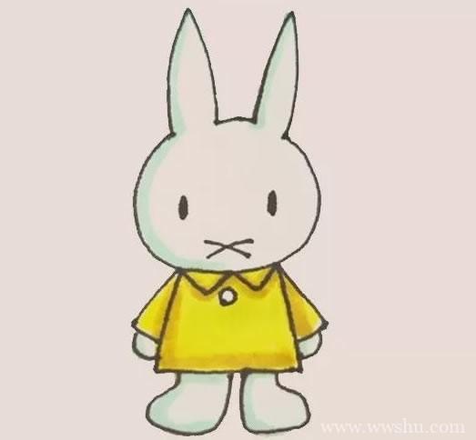 米菲兔简笔画彩色画法步骤图解教程