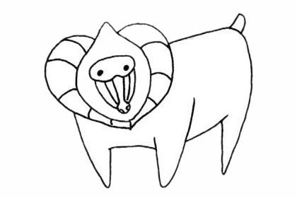 狒狒如何画 狒狒简笔画步骤画法教程及图片大全
