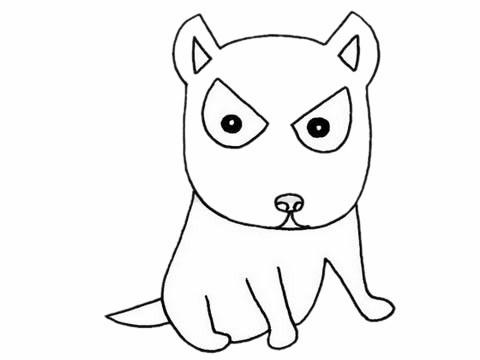 哈士奇简笔画/简单画法/步骤教程及图片大全