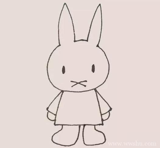 米菲兔简笔画_米菲兔简笔画步骤图解教程