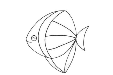 黄鳍鲳简笔画步骤画法及图片大全