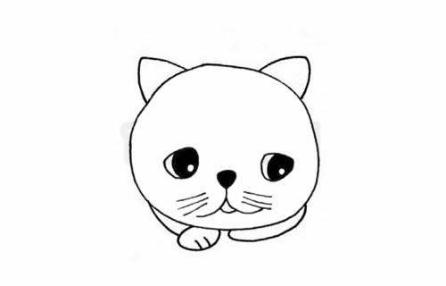 如何画加菲猫_呆呆的加菲猫简笔画步骤图解教程