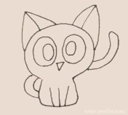 罗小黑简笔画如何画_罗小黑简笔画步骤画法教程