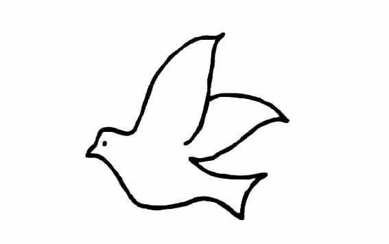 小鸟简笔画图片大全_超简单的鸟儿简笔画图片素材