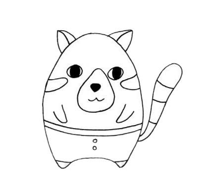 可爱的小熊猫简笔画步骤图解教程及图片大全