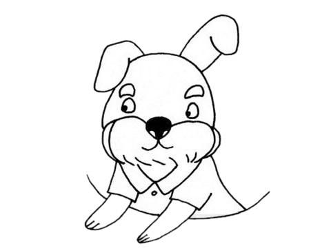 雪纳瑞简笔画_可爱的雪纳瑞简笔画步骤图片大全