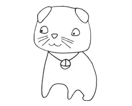 幼儿学画折耳猫简笔画步骤教程及图片大全